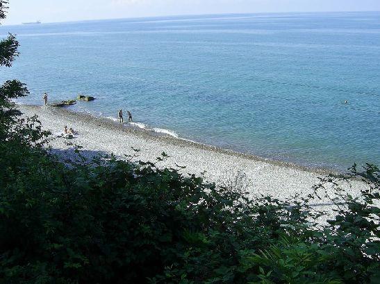 Вид на набережную Туапсе, центральный пляж