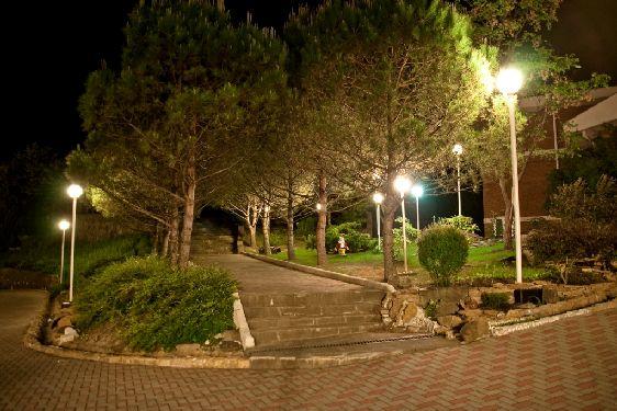 При санаториях есть парки, где отдыхающие могут совершать вечерние прогулки