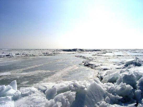 Во время особо холодных и морозных зим Азовское море может замерзать