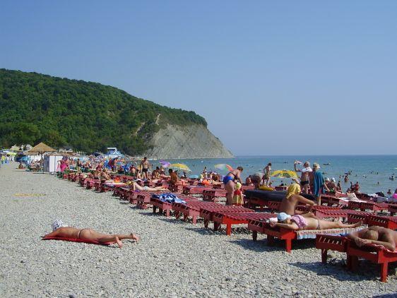 Галечный пляж в Архипо-Осиповке