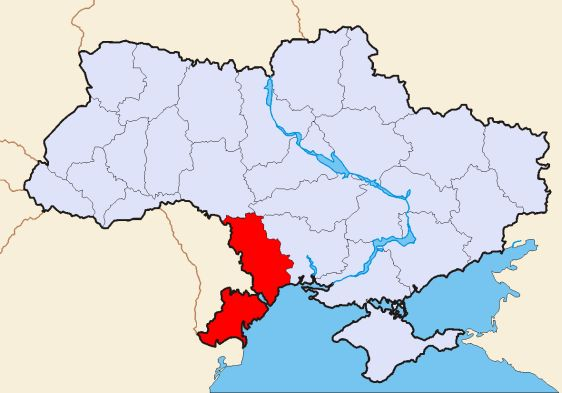 Одесская область на карте Украины