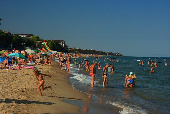 Пляж посёлка Грибовка