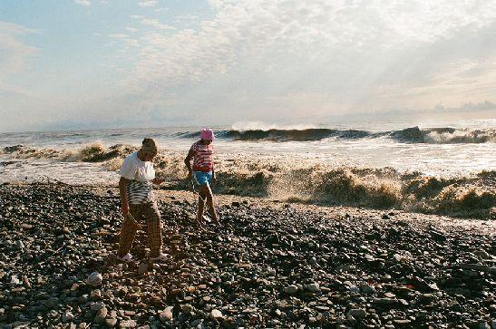 В октябре в Сочи бывают не слишком приветливые, зато очень красивые волны